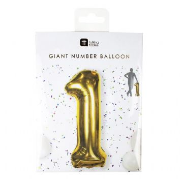 Giant Gold Foil Number Balloon - 1